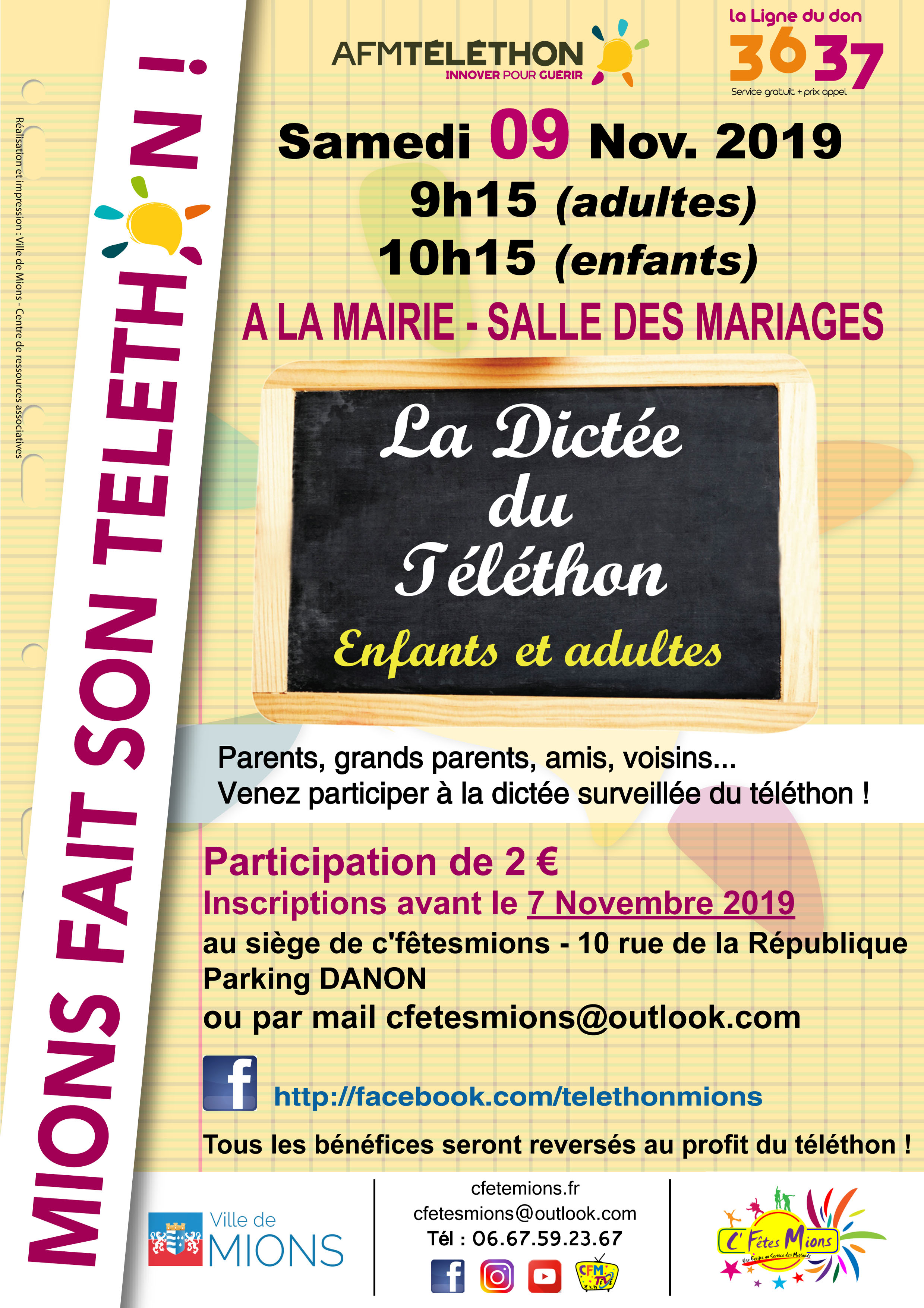 AFFICHE DICTEE 2018