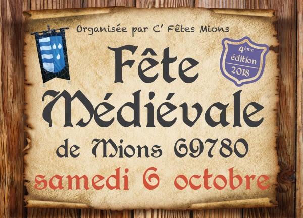 Fête médiévale : samedi 6 octobre de l'an de grâce 2018